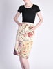 Moschino Vintage Beige Card Suits Print Skirt - Amarcord Vintage Fashion  - 4
