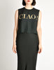 Moschino Vintage Black and Gold CIAO! Top - Amarcord Vintage Fashion  - 3