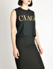 Moschino Vintage Black and Gold CIAO! Top - Amarcord Vintage Fashion  - 4