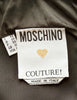 Moschino Vintage Black and Gold CIAO! Top - Amarcord Vintage Fashion  - 7