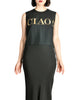 Moschino Vintage Black and Gold CIAO! Top - Amarcord Vintage Fashion  - 1