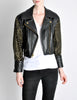 Moschino Vintage Studded Black Leather Cropped Moto Jacket - Amarcord Vintage Fashion  - 2