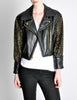 Moschino Vintage Studded Black Leather Cropped Moto Jacket - Amarcord Vintage Fashion  - 5