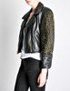 Moschino Vintage Studded Black Leather Cropped Moto Jacket - Amarcord Vintage Fashion  - 6