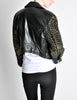 Moschino Vintage Studded Black Leather Cropped Moto Jacket - Amarcord Vintage Fashion  - 7