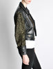 Moschino Vintage Studded Black Leather Cropped Moto Jacket - Amarcord Vintage Fashion  - 4