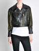 Moschino Vintage Studded Black Leather Cropped Moto Jacket - Amarcord Vintage Fashion  - 3