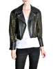 Moschino Vintage Studded Black Leather Cropped Moto Jacket - Amarcord Vintage Fashion  - 1