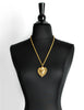 Love Moschino Vintage Gold Sacred Heart Necklace - Amarcord Vintage Fashion  - 3
