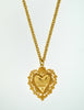 Love Moschino Vintage Gold Sacred Heart Necklace - Amarcord Vintage Fashion  - 4