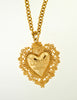 Love Moschino Vintage Gold Sacred Heart Necklace - Amarcord Vintage Fashion  - 2