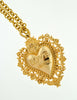 Love Moschino Vintage Gold Sacred Heart Necklace - Amarcord Vintage Fashion  - 5