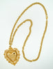 Love Moschino Vintage Gold Sacred Heart Necklace - Amarcord Vintage Fashion  - 6