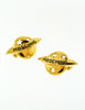 Moschino Vintage Gold Star Saturn Planet Earrings - Amarcord Vintage Fashion  - 4