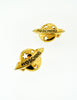 Moschino Vintage Gold Star Saturn Planet Earrings - Amarcord Vintage Fashion  - 3
