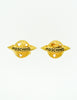 Moschino Vintage Gold Star Saturn Planet Earrings - Amarcord Vintage Fashion  - 2