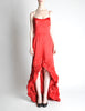Moschino Vintage Red Silk Hi-Low Train Dress - Amarcord Vintage Fashion  - 3
