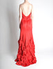 Moschino Vintage Red Silk Hi-Low Train Dress - Amarcord Vintage Fashion  - 5