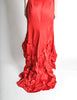 Moschino Vintage Red Silk Hi-Low Train Dress - Amarcord Vintage Fashion  - 6