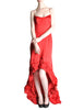 Moschino Vintage Red Silk Hi-Low Train Dress - Amarcord Vintage Fashion  - 1