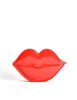 Moschino Vintage Red Patent Leather Lips Clutch Bag - Amarcord Vintage Fashion  - 4