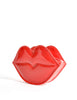 Moschino Vintage Red Patent Leather Lips Clutch Bag - Amarcord Vintage Fashion  - 5