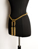 Moschino Vintage Gold Braided Chain Tassel Belt