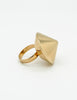 Napier Vintage Gold Conic Spike Ring - Amarcord Vintage Fashion  - 2