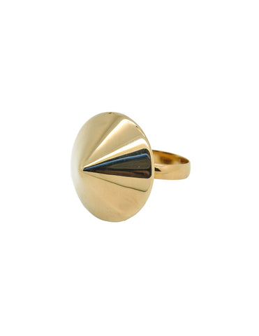 Napier Vintage Gold Conic Spike Ring