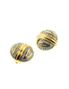 Nina Ricci Vintage Gold Rhinestone Deco Earrings - Amarcord Vintage Fashion  - 5
