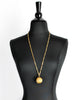 Nina Ricci Vintage Yellow Caged Ball Pendant Gold Necklace - Amarcord Vintage Fashion  - 2