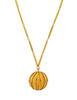 Nina Ricci Vintage Yellow Caged Ball Pendant Gold Necklace - Amarcord Vintage Fashion  - 1