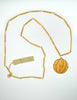 Nina Ricci Vintage Yellow Caged Ball Pendant Gold Necklace - Amarcord Vintage Fashion  - 6