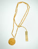 Nina Ricci Vintage Yellow Caged Ball Pendant Gold Necklace - Amarcord Vintage Fashion  - 3