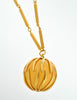 Nina Ricci Vintage Yellow Caged Ball Pendant Gold Necklace - Amarcord Vintage Fashion  - 5