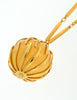 Nina Ricci Vintage Yellow Caged Ball Pendant Gold Necklace - Amarcord Vintage Fashion  - 7