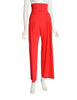 Norma Kamali Vintage Red Ultra High Waist Ruched Pants
