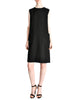Norman Norell Vintage Black Wool Shift Dress - Amarcord Vintage Fashion  - 1