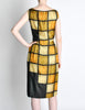 Oleg Cassini Vintage 1960s Silk Square Print Dress - Amarcord Vintage Fashion  - 5