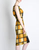 Oleg Cassini Vintage 1960s Silk Square Print Dress - Amarcord Vintage Fashion  - 6