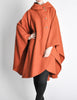 Mariantonia Vintage 1960s Orange Wool Hooded Cape - Amarcord Vintage Fashion  - 4
