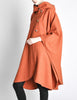 Mariantonia Vintage 1960s Orange Wool Hooded Cape - Amarcord Vintage Fashion  - 5