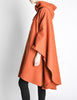 Mariantonia Vintage 1960s Orange Wool Hooded Cape - Amarcord Vintage Fashion  - 7