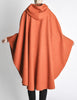 Mariantonia Vintage 1960s Orange Wool Hooded Cape - Amarcord Vintage Fashion  - 8