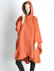 Mariantonia Vintage 1960s Orange Wool Hooded Cape - Amarcord Vintage Fashion  - 3