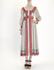 Oscar de la Renta Vintage Cotton Ethnic Print Maxi Dress - Amarcord Vintage Fashion  - 3