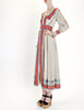 Oscar de la Renta Vintage Cotton Ethnic Print Maxi Dress - Amarcord Vintage Fashion  - 4