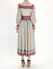 Oscar de la Renta Vintage Cotton Ethnic Print Maxi Dress - Amarcord Vintage Fashion  - 6
