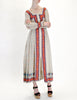 Oscar de la Renta Vintage Cotton Ethnic Print Maxi Dress - Amarcord Vintage Fashion  - 2