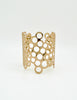 Paco Rabanne Vintage Gold Cut Out Bubble Cuff Bracelet - Amarcord Vintage Fashion  - 2
